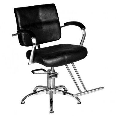 Kirpyklos kėdė HAIR SYSTEM SM361, juodos sp.