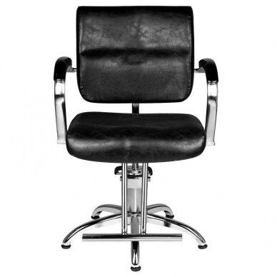 Kirpyklos kėdė HAIR SYSTEM SM361, juodos sp. 3