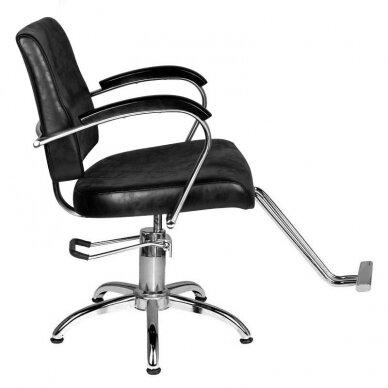 Kirpyklos kėdė HAIR SYSTEM SM361, juodos sp. 4