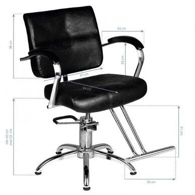 Kirpyklos kėdė HAIR SYSTEM SM361, juodos sp. 5
