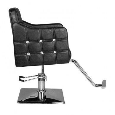 Kirpyklos kėdė HAIR SYSTEM SM362, juodos sp. 3