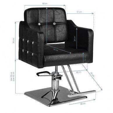 Kirpyklos kėdė HAIR SYSTEM SM362, juodos sp. 5