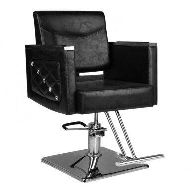 Kirpyklos kėdė HAIR SYSTEM SM363, juodos sp.