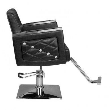 Kirpyklos kėdė HAIR SYSTEM SM363, juodos sp. 3