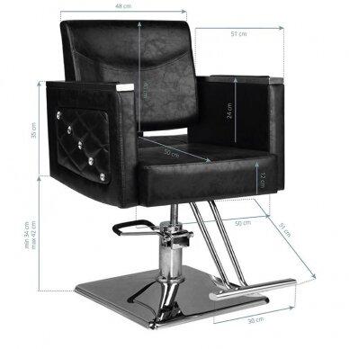 Kirpyklos kėdė HAIR SYSTEM SM363, juodos sp. 5