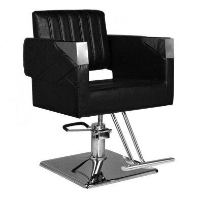Kirpyklos kėdė HAIR SYSTEM SM367, juodos sp.