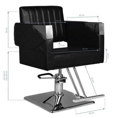 Kirpyklos kėdė HAIR SYSTEM SM367, juodos sp. 3