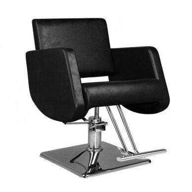 Kirpyklos kėdė HAIR SYSTEM  SM376, juodos sp.