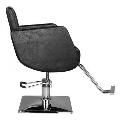 Kirpyklos kėdė HAIR SYSTEM  SM376, juodos sp. 4