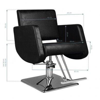Kirpyklos kėdė HAIR SYSTEM  SM376, juodos sp. 2