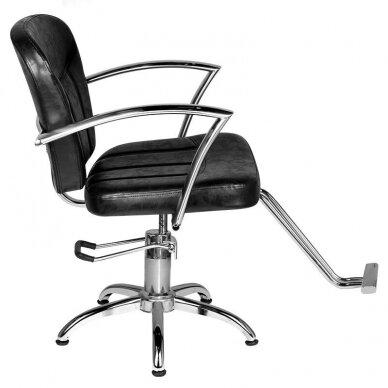 Kirpyklos kėdė HAIR SYSTEM SM382, juodos sp. 3