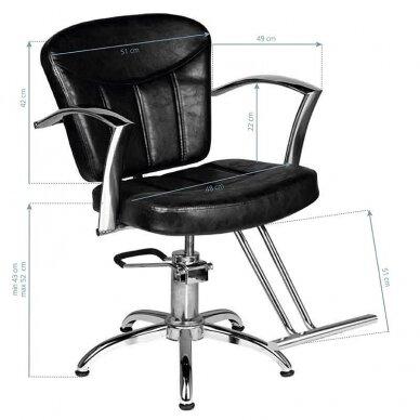 Kirpyklos kėdė HAIR SYSTEM SM382, juodos sp. 2