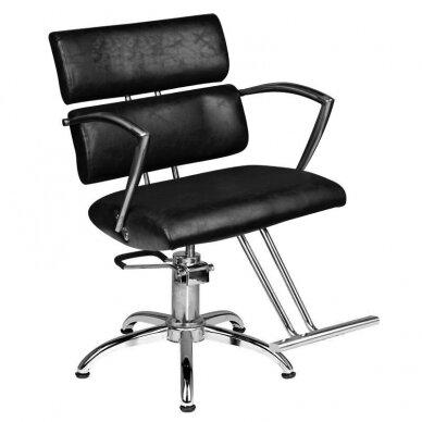 Kirpyklos kėdė SM362-1, juodos sp.