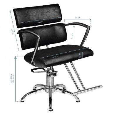 Kirpyklos kėdė SM362-1, juodos sp. 2