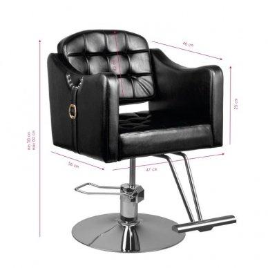 Kirpyklos krėslas 0-90, juodos sp. 2
