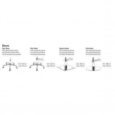 Kirpyklos krėslas ENZO CHROM BASE, juodos sp. 4
