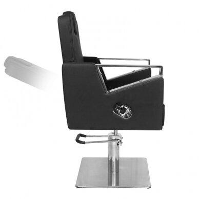 Barber kirpyklos krėslas GABBIANO WILNO, juodos sp. 5