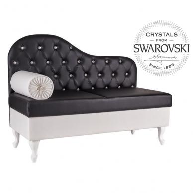 Kirpyklos laukiamojo sofa SWAROVSKI CRYSTALS, individuali gamyba