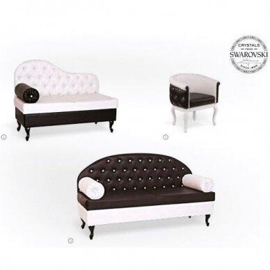 Kirpyklos laukiamojo sofa SWAROVSKI CRYSTALS, individuali gamyba 6