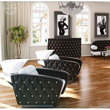Kirpyklos laukiamojo sofa SWAROVSKI CRYSTALS, individuali gamyba 9
