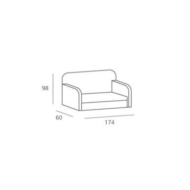 Kirpyklos laukiamojo sofa SWAROVSKI CRYSTALS MAX, individuali gamyba 2