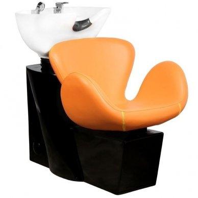 Kirpyklos plautuvė GABBIANO AMSTERDAM, oranžinė-juoda sp.