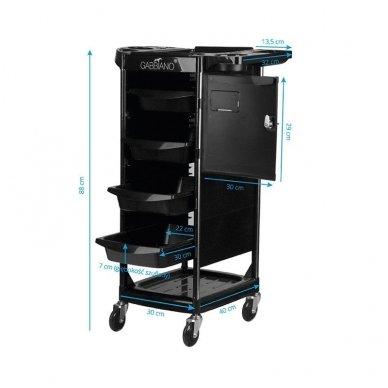 Kirpyklos vežimėlis FX10C BLACK 4