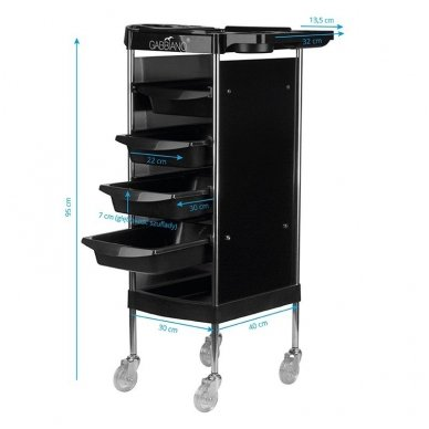 Kirpyklos vežimėlis FX11-B BLACK 6