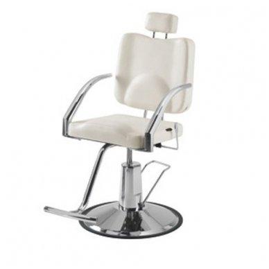 Kirpyklos/vizažo kėdė Weelko Platy, baltos sp.