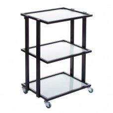 Kosmetologinis vežimėlis BCH-5043, juodos sp.
