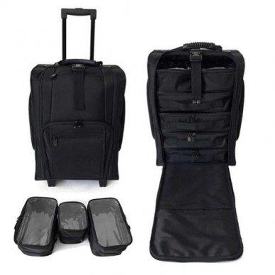 Kosmetikos - vizažo krepšys KC-N46S, juodos sp.