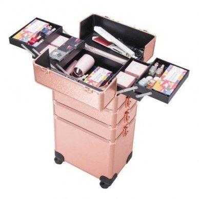 Kosmetikos - vizažo lagaminas 4В1 KC-TR007 ROSE GOLD 2