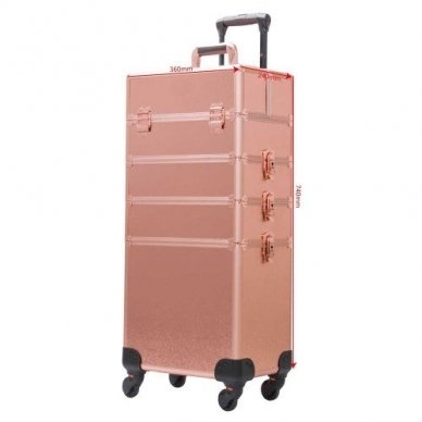 Kosmetikos - vizažo lagaminas 4В1 KC-TR007 ROSE GOLD 3