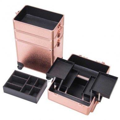 Kosmetikos - vizažo lagaminas 4В1 KC-TR007 ROSE GOLD 6