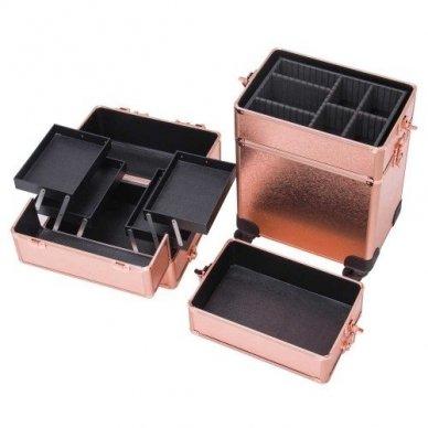 Kosmetikos - vizažo lagaminas 4В1 KC-TR007 ROSE GOLD 7