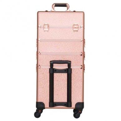 Kosmetikos - vizažo lagaminas 4В1 KC-TR007 ROSE GOLD 9