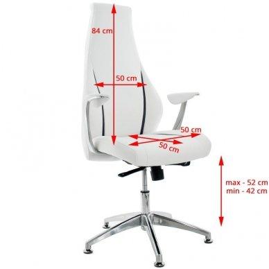 Kosmetinis krėslas RICO 106, baltos spalvos. 3