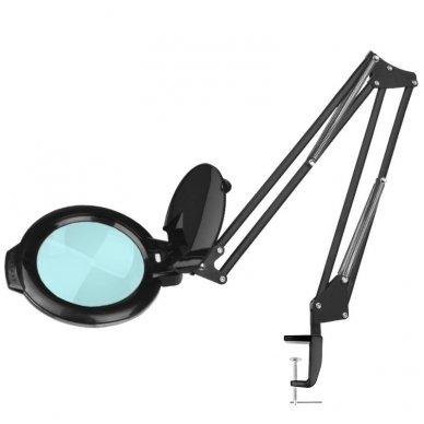 Kosmetologinė LED lempa su lupa MOONLIGHT, tvirtinama prie stalo 113963