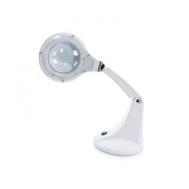 Kosmetologinė LED lempa su lupa