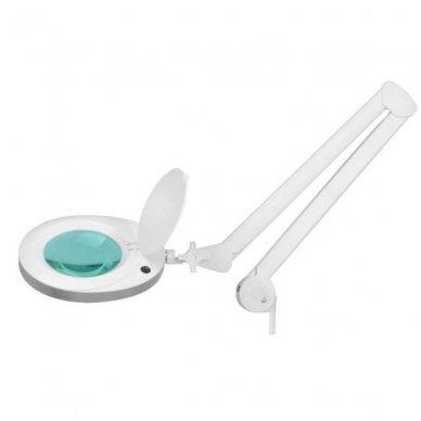 Kosmetologinė lempa su lupa ELEGANTE 6025 60 LED SMD 5D su stovu, baltos sp. 3
