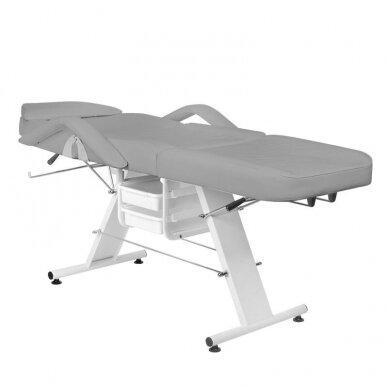 Kosmetologinė lova A 202 su stalčiais, pilkos sp. 3
