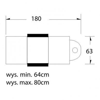 Kosmetologinė lova su ratukais BASIC 210 4