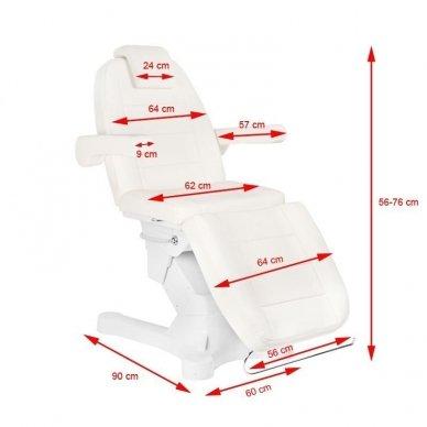 Kosmetologinis elektrinis krėslas-lova A-207 WHITE 10