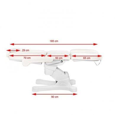 Kosmetologinis elektrinis krėslas-lova A-207 WHITE 11