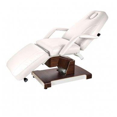 Kosmetologinis elektrinis krėslas - lova Weelko Hallic, baltos sp.