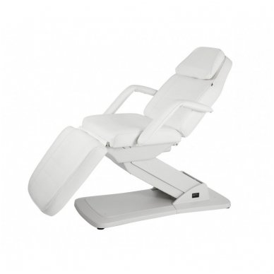 Kosmetologinis elektrinis krėslas - lova Weelko Ster, baltos sp.