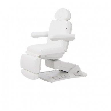 Kosmetologinis elektrinis krėslas - lova Weelko Tella, baltos sp.