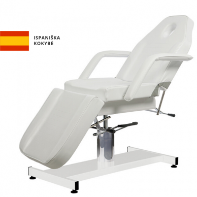 Kosmetologinis - hidraulinis krėslas Weelko Ment, baltos sp.