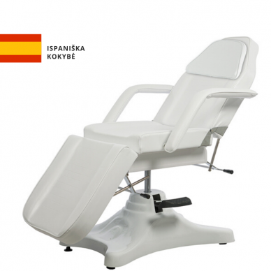 Kosmetologinis - hidraulinis krėslas Weelko Sart, baltos sp.