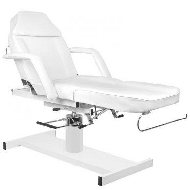 Kosmetologinis krėslas A210 su hidrauliniu mechanizmu, baltas 4